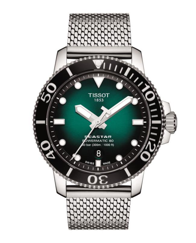 TISSOT - SEASTAR 1000 - POWERMATIC 80 - GREEN DIAL -T12040709100