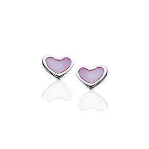 Sølv øreringe - hjerte