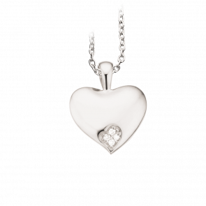 scrouples hvidguld vedhæng med sølv kæde