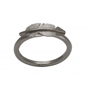 Heiring - Ring - Feather - Mini - Oxideret