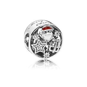 Pandora - Charm - Santa, star and gift