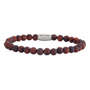 SON OF NOA - ARMBÅND - RED TIGER EYE - MAT
