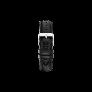 ABOUT VINTAGE PIN BUCKLET BLACK CROCO STRAP