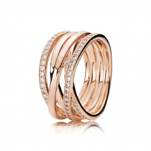 Pandora - Ring - Sparkling and polished lines