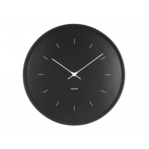 KARLSSON - WALL CLOCK BUTTERFLY HANDS LARGE BLACK