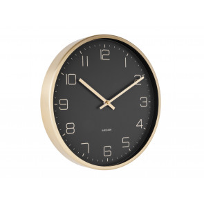 KARLSSON - WALL CLOCK GOLD ELEGANCE BLACK