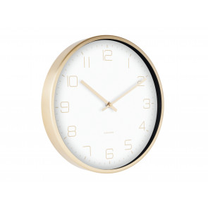 KARLSSON - WALL CLOCK GOLD ELEGANCE WHITE
