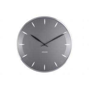 KARLSSON - WALL CLOCK LEAF DARK GRAY