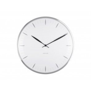 KARLSSON - WALL CLOCK LEAF WHITE
