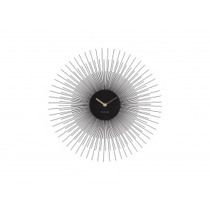 KARLSSON - WALL CLOCK PEONY STEEL BLACK