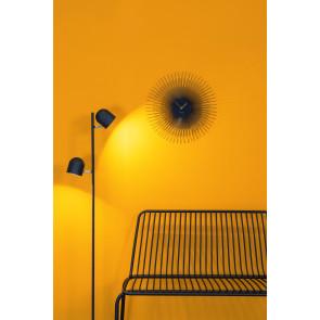 KARLSSON - WALL CLOCK PEONY STEEL BLACK